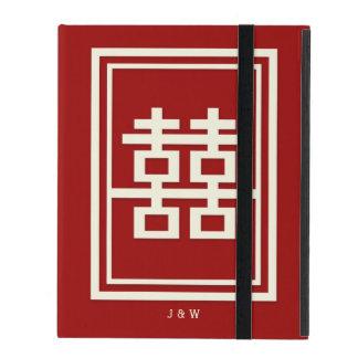 Capa iPad Casamento chinês vermelho da felicidade dobro do
