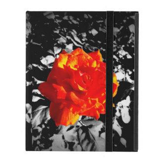 Capa iPad Caso do iPad 2/3/4 da rosa vermelha sem Kickstand