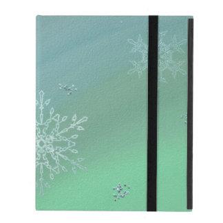 Capa iPad Caso do iPad do floco de neve