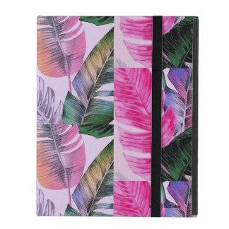 Capa iPad Caso do iPad do teste padrão da planta tropical