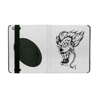 Capa iPad Caso mau do iPad do palhaço com Kickstand