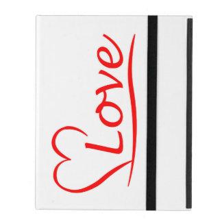 Capa iPad Coração com amor