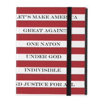 Capa iPad Deixe-nos fazer outra vez o excelente de América!