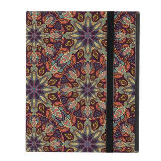 Capa iPad Design floral do teste padrão do abstrato da