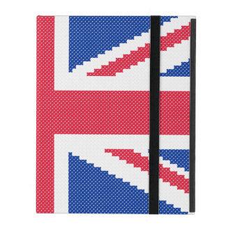 Capa iPad Design original Union Jack do ponto de cruz