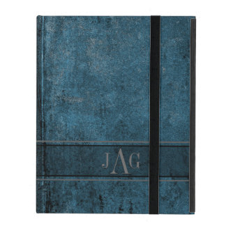 Capa iPad Design rústico do livro azul do Grunge