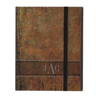 Capa iPad Design rústico do livro de Brown do Grunge