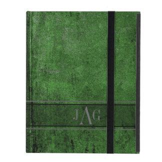 Capa iPad Design rústico do Livro Verde do Grunge