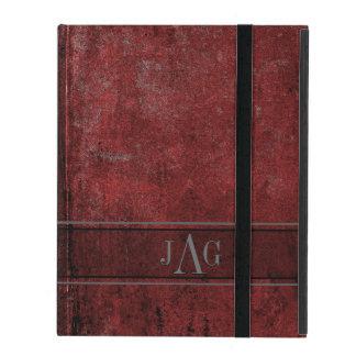 Capa iPad Design vermelho do livro do Grunge rústico