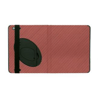 Capa iPad Eco do pêssego e listra preta