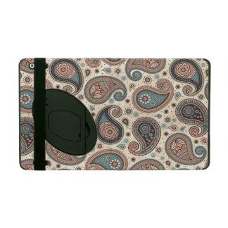 Capa iPad Elegante bege da cerceta do marrom do teste padrão