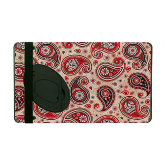 Capa iPad Elegante bege vermelho do marrom do teste padrão