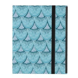 Capa iPad Escalas azuis da sereia, boho, hippie, boémio