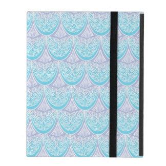 Capa iPad Escalas cor-de-rosa da sereia, boho, hippie,