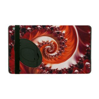 Capa iPad Espiral carmesim do Fractal da paixão, coração do