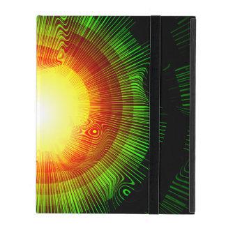Capa iPad Espiral da explosão do verde psicadélico