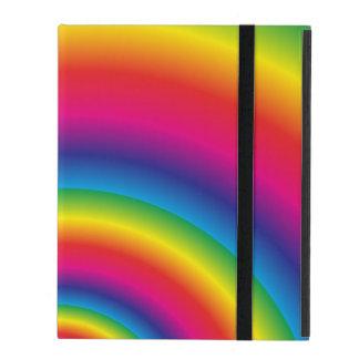 Capa iPad Espiral do arco-íris