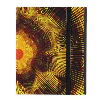 Capa iPad Espiral do ouro amarelo psicadélico