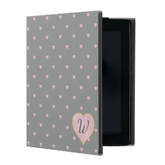 Capa iPad Estrelas dentro dos corações na caixa cinzenta de