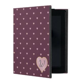 Capa iPad Estrelas dentro dos corações no caso de Powis do