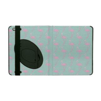 Capa iPad Flamingo cor-de-rosa no teste padrão sem emenda da