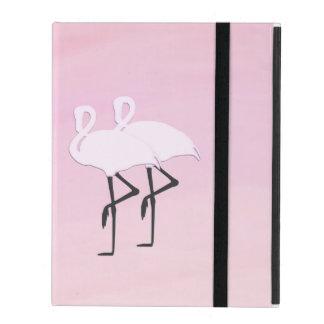 Capa iPad Flamingos cor-de-rosa