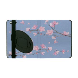 Capa iPad Flor de cerejeira - azul da serenidade