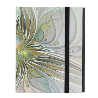 Capa iPad Flor moderna da arte do Fractal da fantasia floral