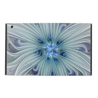 Capa iPad Flor Pastel azul moderna do abstrato floral da