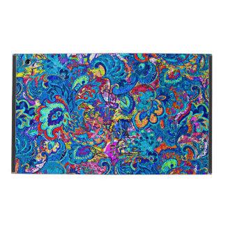 Capa iPad Flores abstratas coloridas bonitos da pintura