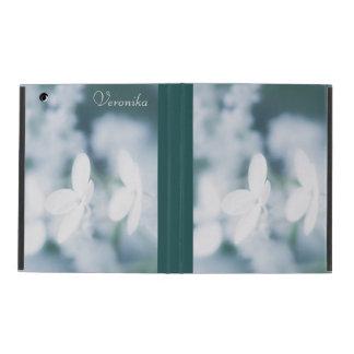 Capa iPad Flores brancas bonitas