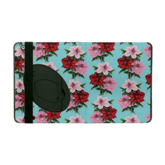 Capa iPad flores rosas vermelha na luz da cerceta