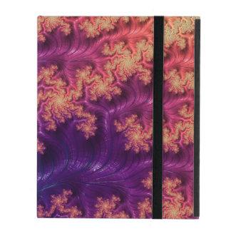 Capa iPad Fractals do rico & do divertimento com padrões