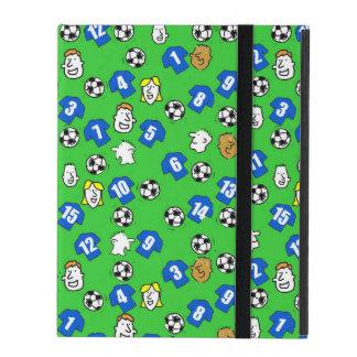 Capa iPad Futebóis, camisas azuis, & fãs