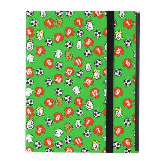 Capa iPad Futebóis, camisas vermelhas, & fãs