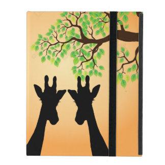 Capa iPad Girafas longos do chicote