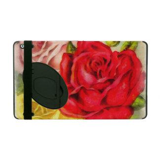 Capa iPad Grupo da aguarela dos rosas