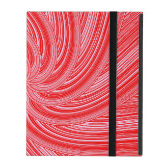 Capa iPad Impressão espiral de fluxo vermelho e cor-de-rosa