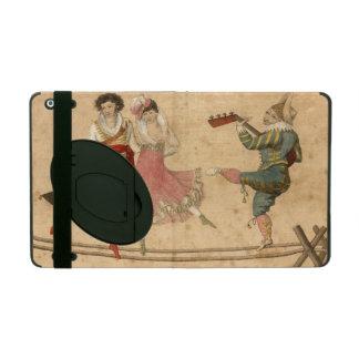 Capa iPad Jovens que dançam e que cantam, desenho do vintage