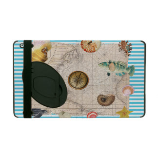 Capa iPad Listras azuis do tesouro marinho