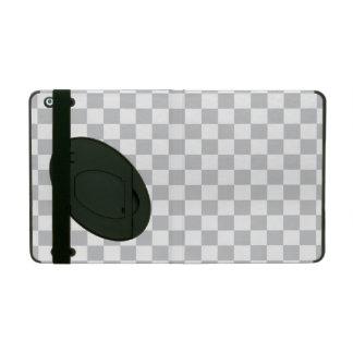 Capa iPad Luz - tabuleiro de damas cinzento