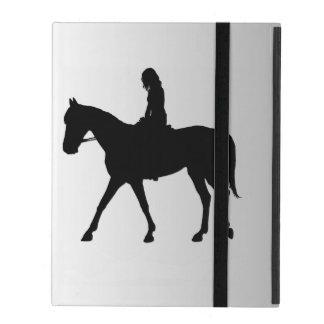 Capa iPad Menina na prata do cavalo