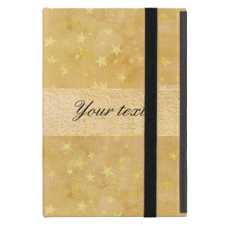 Capa iPad Mini A folha de ouro personalizada Stars a aguarela