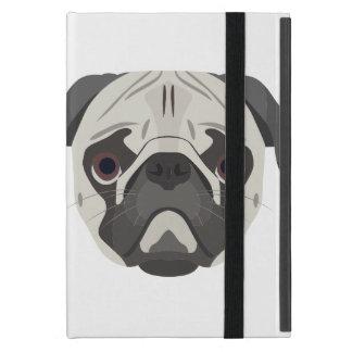 Capa iPad Mini A ilustração persegue o Pug da cara