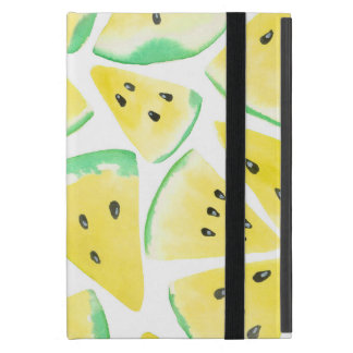 Capa iPad Mini A melancia amarela corta o teste padrão