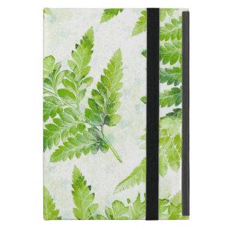 Capa iPad Mini A samambaia verde bonito sae da aguarela botânica