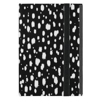 Capa iPad Mini Abstrato preto e branco pontos dispersados