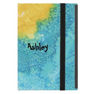 Capa iPad Mini Aguarela azul/amarela