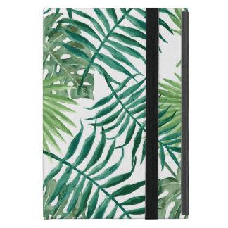 Capa iPad Mini Aguarela tropical das folhas de palmeira