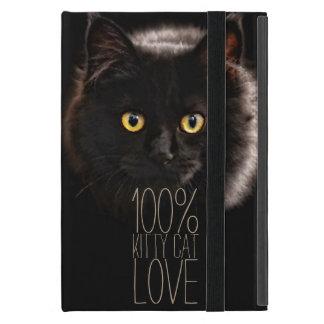 Capa iPad Mini Amante do gato preto e do gato do nome